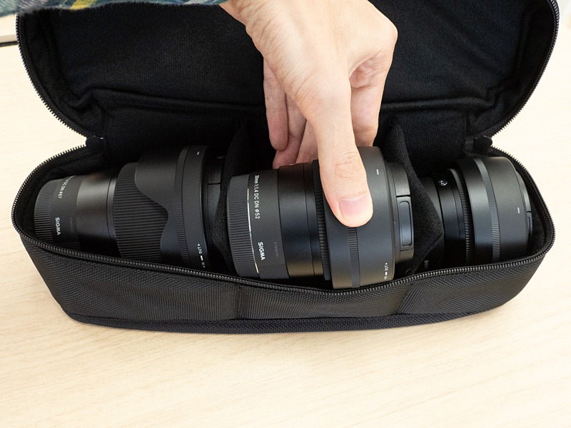 Sigma three DC DN lenses bag1