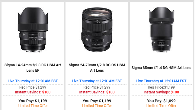 Sigma lens deal