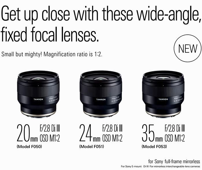 tamron FE lenses