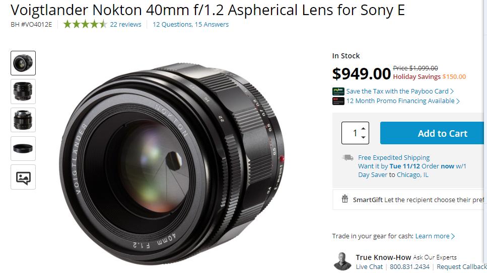 voigtlander lens deal