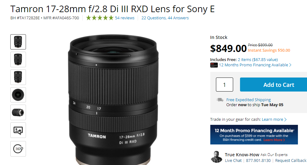 Hot Deals:  $50 Off on Tamron 17-28mm, 28-75mm FE Lenses
